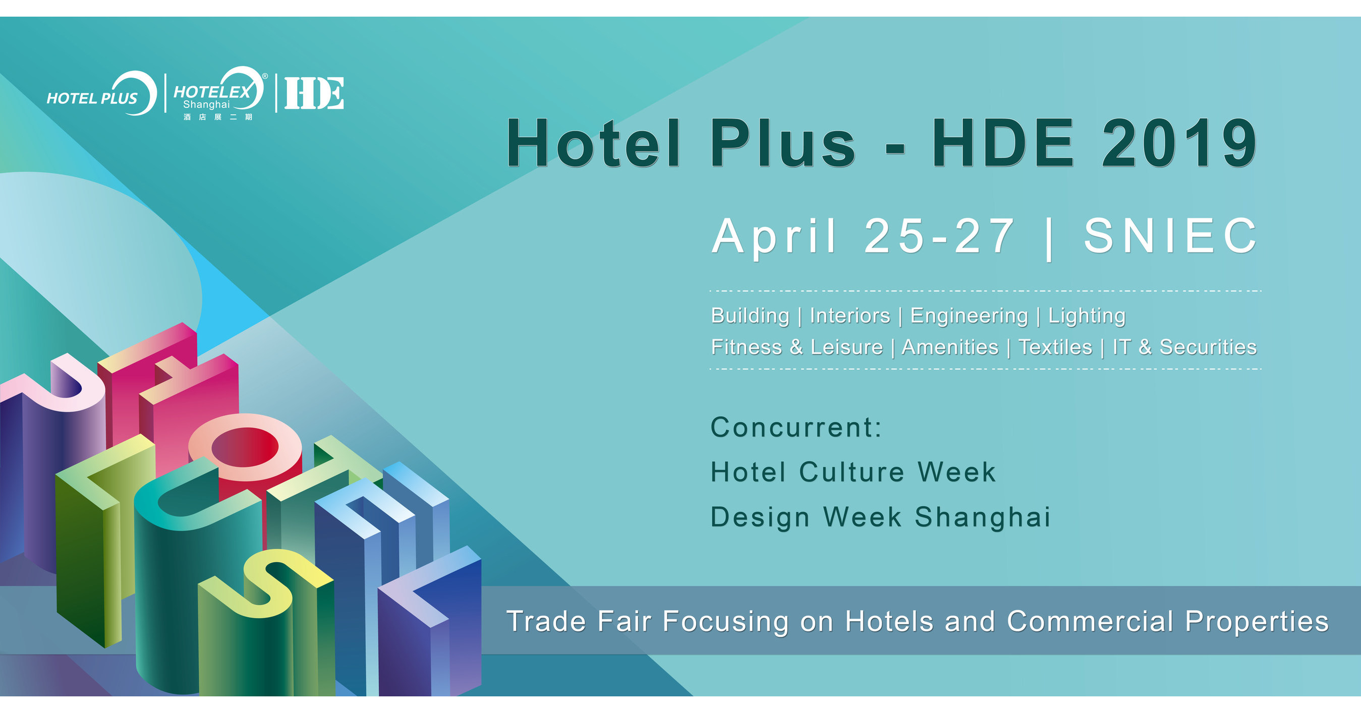 HDE, the Comprehensive Hotel Show in Shanghai, Announces