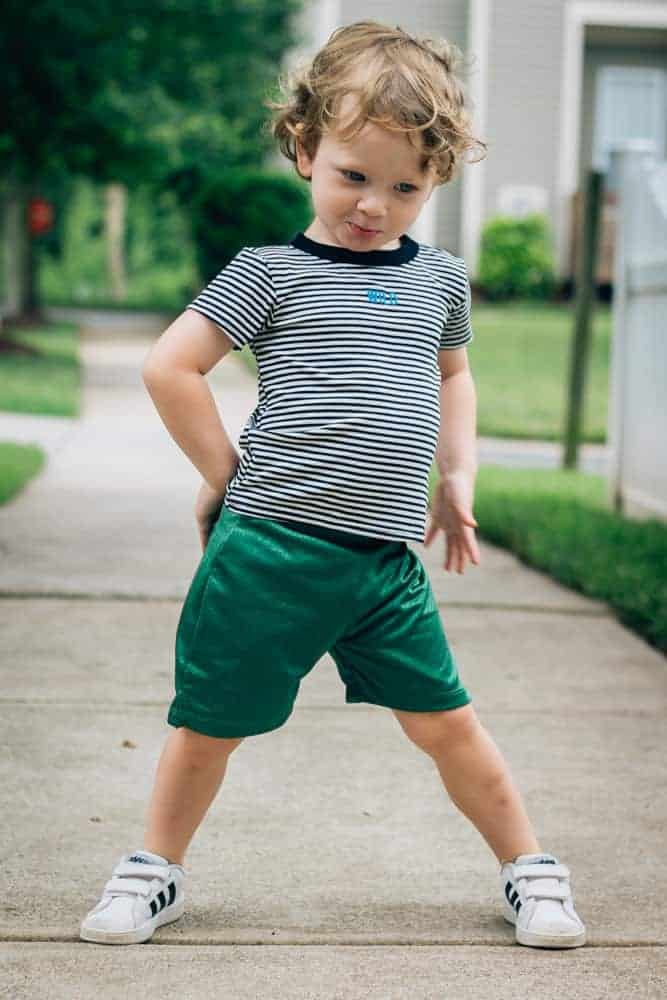 Beru-Kids-Green-Shorts-Wild-Striped-Shirt-3